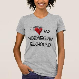 I Love My Norwegian Elkhound Tee Shirts