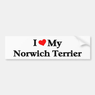 i love my Norwich Terrier Bumper Sticker