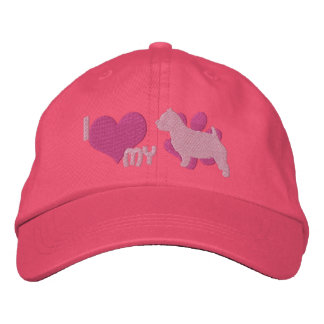 I Love my Norwich Terrier Embroidered Hat (Pink)