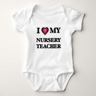 I love my Nursery Teacher Baby Bodysuit