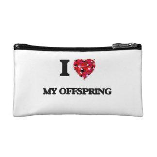 I Love My Offspring Makeup Bags