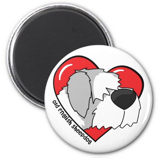 I Love my Old English Sheepdog Magnet