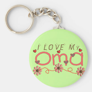 I Love My OMA Gifts Basic Round Button Key Ring