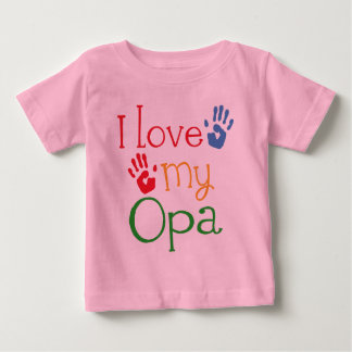 I Love My Opa (Handprints) Baby T-Shirt
