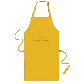 I love my organic garden long apron