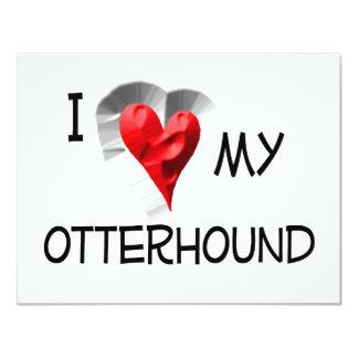 "I Love My Otterhound 4.25"" X 5.5"" Invitation Card"