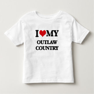 I Love My OUTLAW COUNTRY Tee Shirts