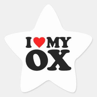 I LOVE MY OX STICKERS