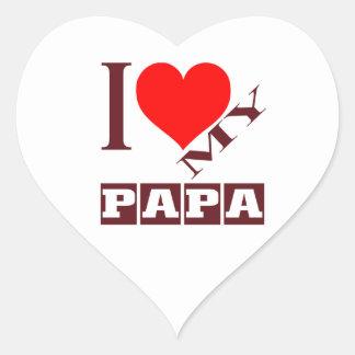 i love my Papa. Heart Sticker