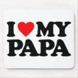 I LOVE MY PAPA MOUSE MATS