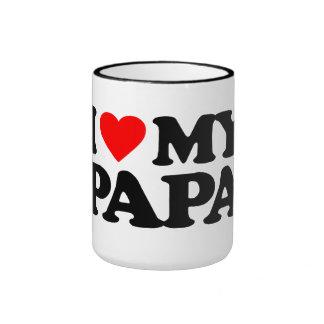 I LOVE MY PAPA RINGER MUG