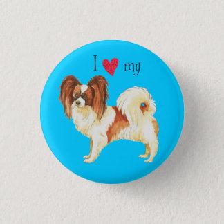 I Love my Papillon 3 Cm Round Badge