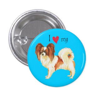 I Love my Papillon 3 Cm Round Badge