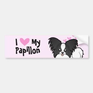 I Love My Papillon Bumper Sticker