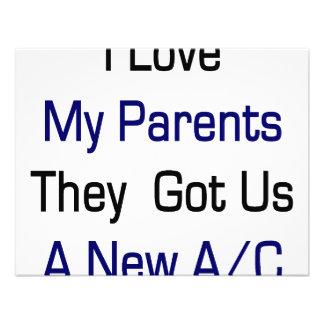 I Love My Parents They Got Us A New AC Custom Invitations