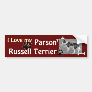 I love my Parson Russell Terrier Bumper Sticker