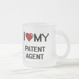 I love my Patent Agent Frosted Glass Mug