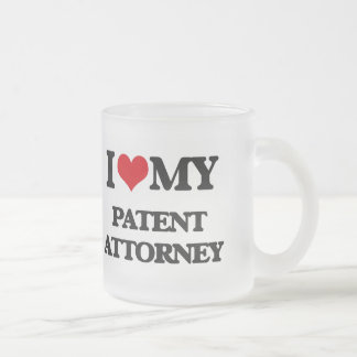 I love my Patent Attorney Frosted Glass Mug