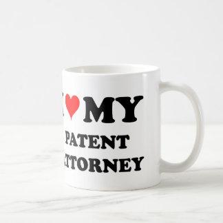I Love My Patent Attorney Coffee Mugs