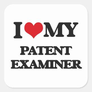 I love my Patent Examiner Square Sticker