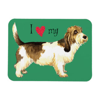 I Love my PBGV Rectangular Photo Magnet