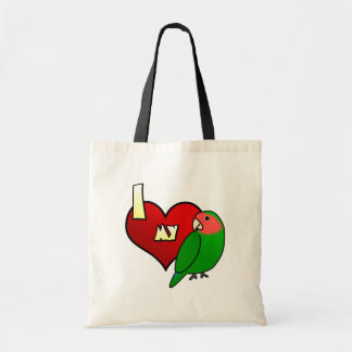 I Love my Peachfaced Lovebird Tote Bag