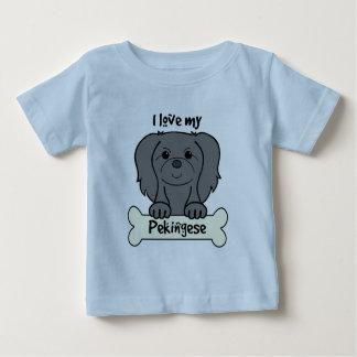 I Love My Pekingese Baby T-Shirt
