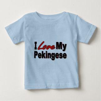 I Love My Pekingese Dog Gifts and Apparel Baby T-Shirt