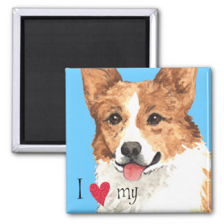 I Love my Pembroke Welsh Corgi Magnet