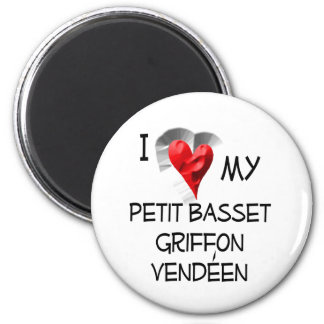 I Love My Petit Basset Griffon Vendeen 6 Cm Round Magnet