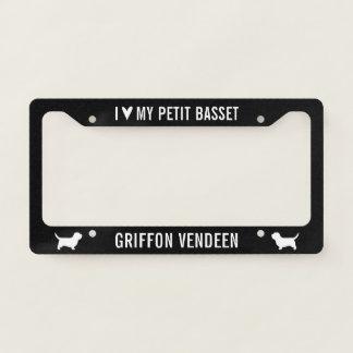 I Love My Petit Basset Griffon Vendeen Licence Plate Frame