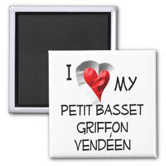 I Love My Petit Basset Griffon Vendeen Refrigerator Magnets