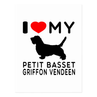 I Love My Petit Basset Griffon Vendeen. Postcard