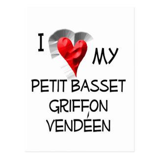 I Love My Petit Basset Griffon Vendeen Postcard