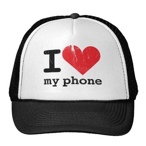 I Love My Phone Hats
