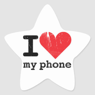 I Love My Phone Star Sticker