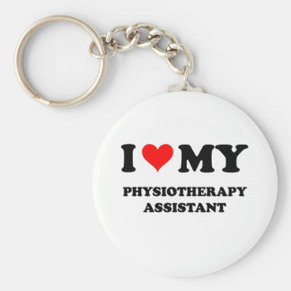 I Love My Physiotherapy Assistant Key Ring