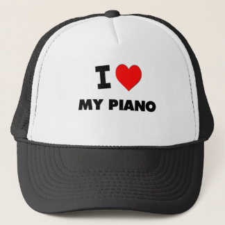 I Love My Piano Trucker Hat