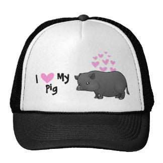 I Love My Pig Cap