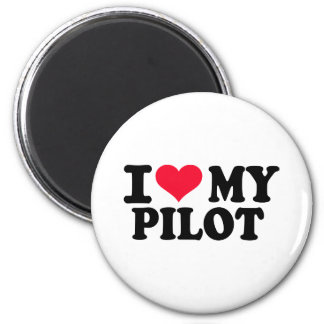 I love my Pilot 6 Cm Round Magnet