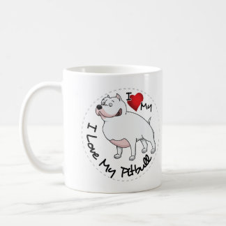 I Love My Pitbull Dog Coffee Mug