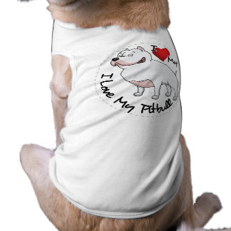 I Love My Pitbull Dog Shirt
