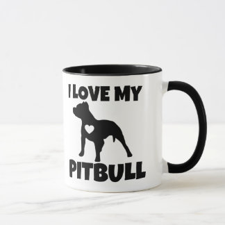 I Love My Pitbull Mug
