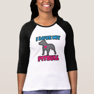 I Love my Pitbull Women's Shirt