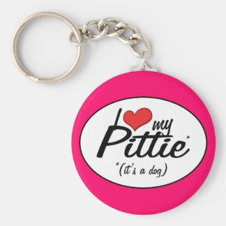I Love My Pittie (It's a Dog) Key Ring