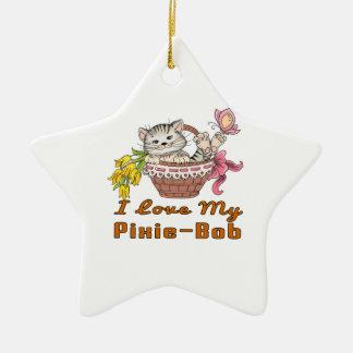I Love My Pixie-Bob Ceramic Star Decoration