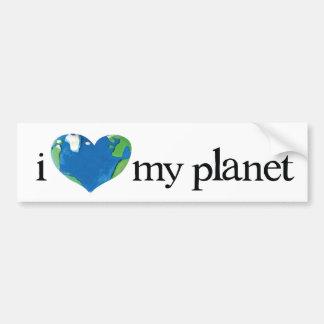 i love my planet car bumper sticker