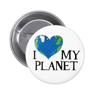 I love my planet button