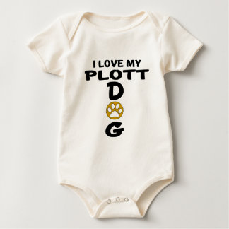 I Love My Plott Dog Designs Baby Bodysuit