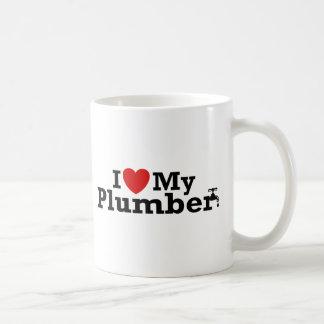 I Love My Plumber Basic White Mug